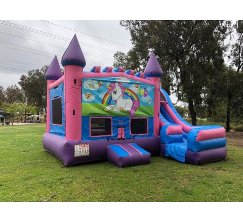 5 in 1 Unicorn Bounce House Rental in San Diego