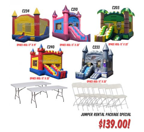 bouncer rental package special