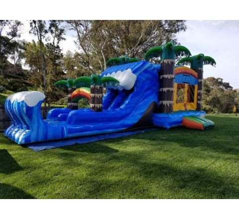 4 in 1 Dual Lane Tropical Combo Jumper Rental in San Diego