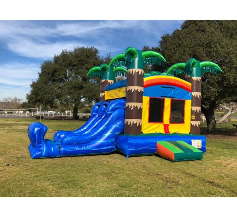 3 in 1 Dual Lane Tropical Fun Jumper Rental in San Diego