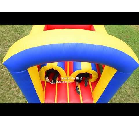 Obstacle Castle Slide Jumper at the park