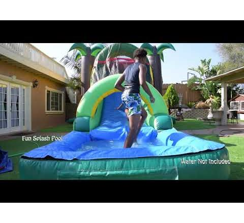 Tropical Island Water Slide Combo (sku w429)
