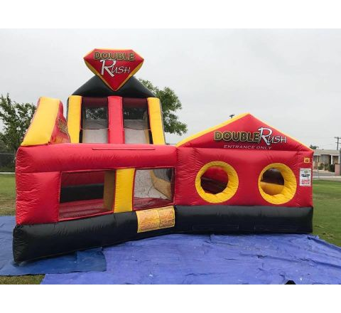 Right Side Double Rush Obstacle Slide Rental San Diego