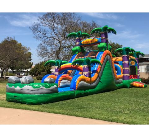 Dual Lane Paradise Combo Water Slide (SKU W445)