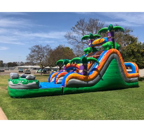 Dual Lane Paradise Water Slide (SKU W446)