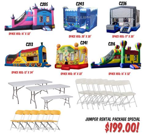 jumper rental package for $199 USD