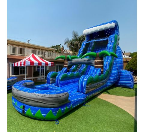 Single Lane Tsunami Water Slide (SKU W454)